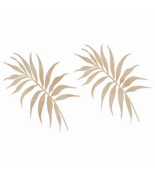 Wood Flourishes-Palm Leaves 2/Pkg