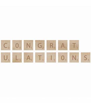 Kaisercraft Wooden Letter Words Congratulations