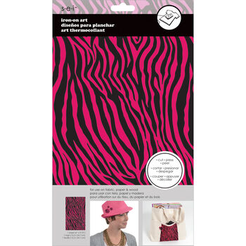 Sei Iron-on Sheet Hot Pink/Black Zebra