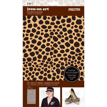 Sei Iron-on Sheet Cheetah Brown/Black