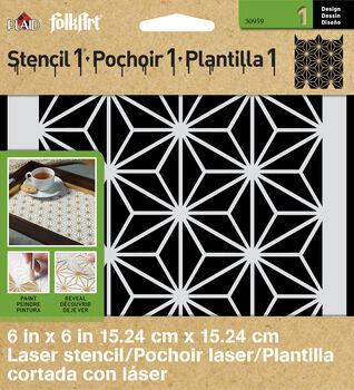FolkArt ® Stencil1 ® Laser Stencils - Small - Star Pattern