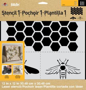 FolkArt ® Stencil1 ® Laser Stencils - Honey Bee Set