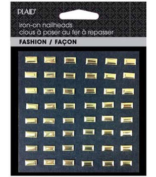 Plaid® Fashion Hot Fix Nailhead Assortment  Pack-Shiny Gold  Bars