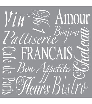 Decoart French Living - American Decor Stencil