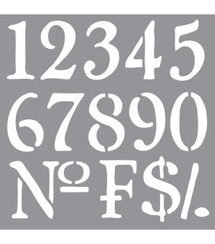 Decoart Olde Numbers - American Decor Stencil