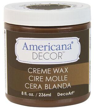 Americana Decor Creme Wax 8oz-Deep Brown