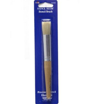 Plaid Natural Stencil Brush-5/8''/Natural