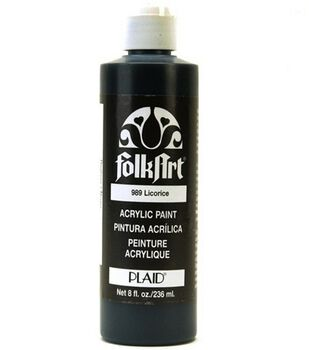 FolkArt® Acrylic Paint-Black Licorice