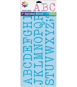 Delta Stencil Magic 2'' Letter Design Stencils-Typewriter