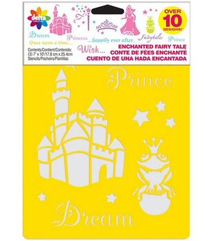Delta Stencil Mania 3 Pack Value Stencils-Enchanted Fairytale