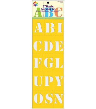 Delta Super Value Stencil Mania Stencils-Basic Alphabet