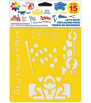 Delta Stencil Mania 3 Pack Value Stencils-Let's Move