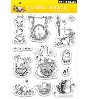 Penny Black Clear Stamps-Garden Friends