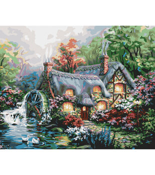 """Paint By Number Kit 16""""X20""""-Cottage Mill"""