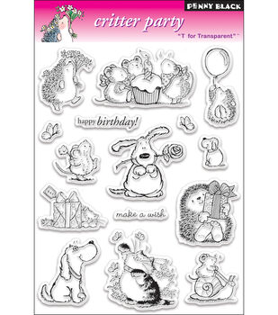"""Penny Black Clear Stamps 5""""X7.5"""" Sheet-Critter Party"""