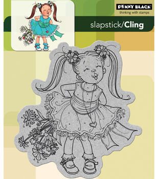 """Cling Rubber Stamp 5""""X6""""-Kisses"""