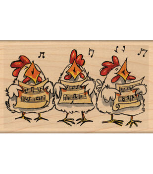 """Penny Black Mounted Rubber Stamp 2.5""""X4.25""""-Carolers"""