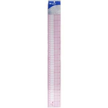 Thru 8ths Graph English/Metric Beveled Ruler