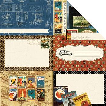 Echo Park Paper Photo Freedom Transatlantique Blueprint Cardstock