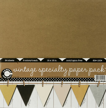12x12 Specialty Paper Pack Vintage