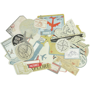 Kaisercraft Now Boarding Collectables Cardstock Die-Cuts