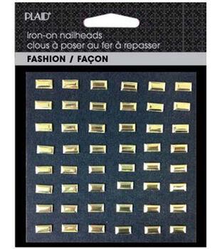 Plaid® Fashion Hot Fix Nailhead Assortment  Pack-Shiny Gold  Bars