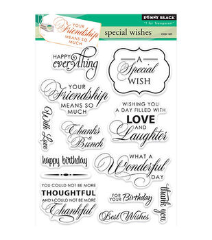Penny Black T for Transparent Clear Stamps Special Wishes