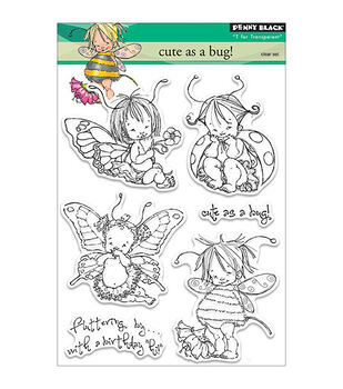Penny Black T for Transparent Clear Stamps Cute as a Bug