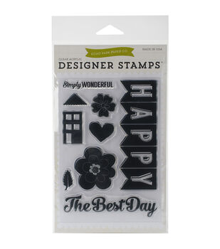 Echo Park Stamp Set-Happy Family