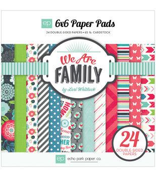 "Echo Park Paper Pad 6""X6"" 24/Pkg-We Are Family"