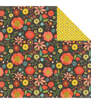 """Simple Life Double-Sided Cardstock 12""""X12""""-Large Floral"""