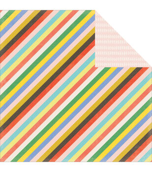 """Simple Life Double-Sided Cardstock 12""""X12""""-Simple Stripe"""