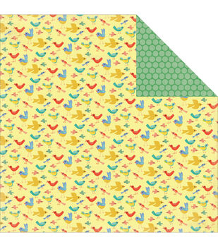 """Simple Life Double-Sided Cardstock 12""""X12""""-Busy Birds"""
