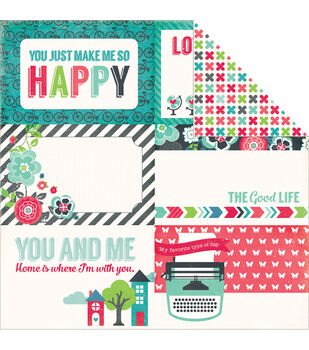 """We Are Family Double-Sided Cardstock 12""""X12""""-Journaling Cards 4""""X6"""""""