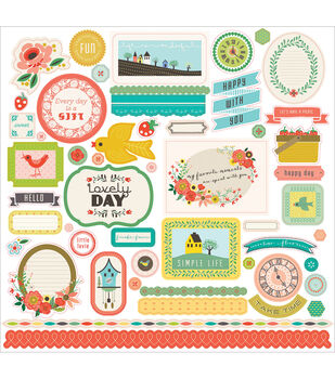 """Simple Life Cardstock Stickers 12""""X12""""-Element"""