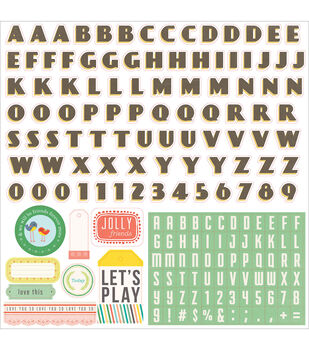 """Simple Life Cardstock Stickers 12""""X12""""-Alpha"""