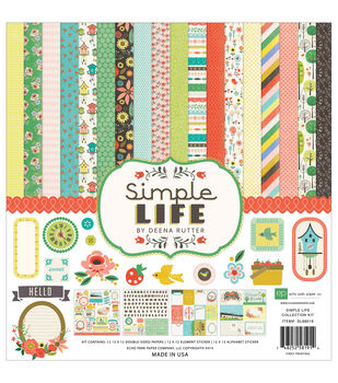 """Echo Park Collection Kit 12""""X12""""-Simple Life"""