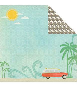 """Walking On Sunshine Double-Sided Cardstock 12""""X12""""-Ocean Scenery"""