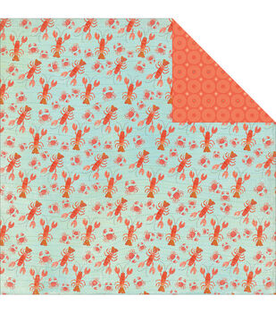 """Walking On Sunshine Double-Sided Cardstock 12""""X12""""-Lobsters & Crabs"""