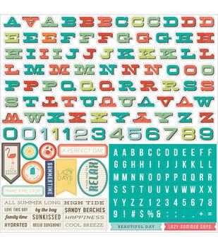 "Walking On Sunshine Cardstock Stickers 12""X12""-Alpha"
