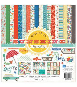 "Echo Park Collection Kit 12""X12""-Walking On Sunshine"