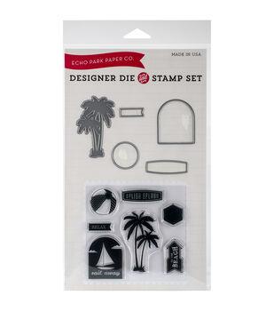 Echo Park Die & Stamp Combo Set-Splish Splash