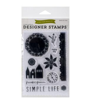 Echo Park Stamp Set-Simple Life