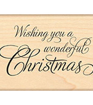 Penny Black Festive Wishes Mounted Rubber Stamp