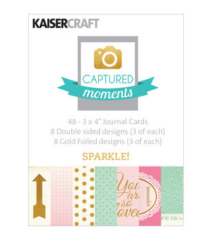 Captured Moments Double-Sided Cards -Sparkle! W/Some Gold Foiled Designs