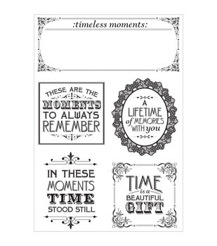 """Betsy's Couture Clear Stamps 6.25""""X4""""-"""