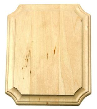 Basswood Wide Edge Plaque-8''x10''x3/4''/French Corner