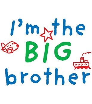 Uptown Baby Color Transfer Iron-Ons-I'm The Big Brother
