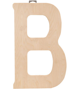"Wood Letter 18""X.5"""
