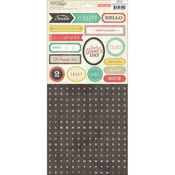 Crate Paper DIY Shop Cardstock Stickers Alpha Mini